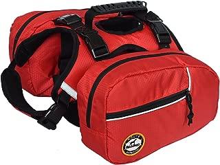 smartelf Dog Backpack Hiking Gear 2 in 1 Detachable Saddle Bag Hound Rucksack for Travel Camping Hiking Medium Large Breeds