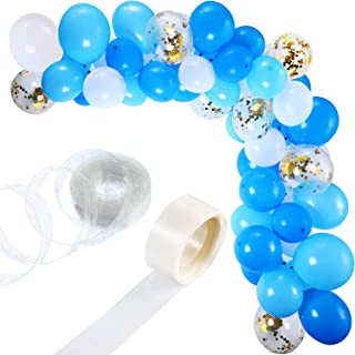 Party Propz Set of 113 Balloons Garland Kit Balloon Arch Garland for Wedding Birthday Party Decorations (White Blue)