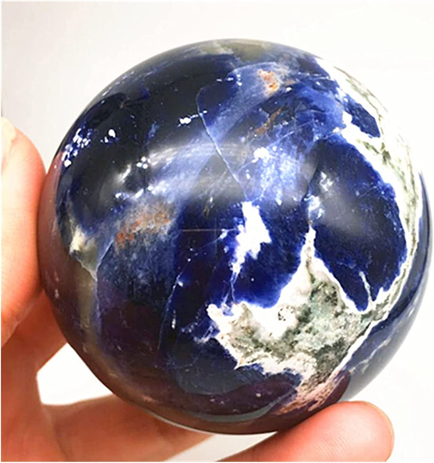 ZHBO Natural Blue Luxury Sodalite Crystal Popular shop is the lowest price challenge Sphere Carving Quartz