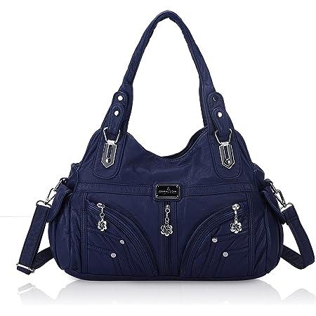 Angel Kiss Tasche Damen Handtasche Schultertasche Lederhandtasche Reise Arbeit Shopping Mode Damenhandtasche Henkeltasche Umhängetasche Top Griff Tasche, Bestes Geschenk für Frauen Blau
