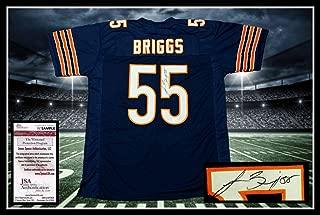 Autographed Lance Briggs Jersey - navy coa UNFRAMED - JSA Certified - Autographed NFL Jerseys