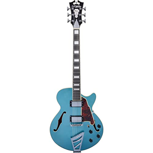 DAngelico Premier SS Semi-Hollow Electric Guitar w/ Stairstep Tailpiece - Ocean