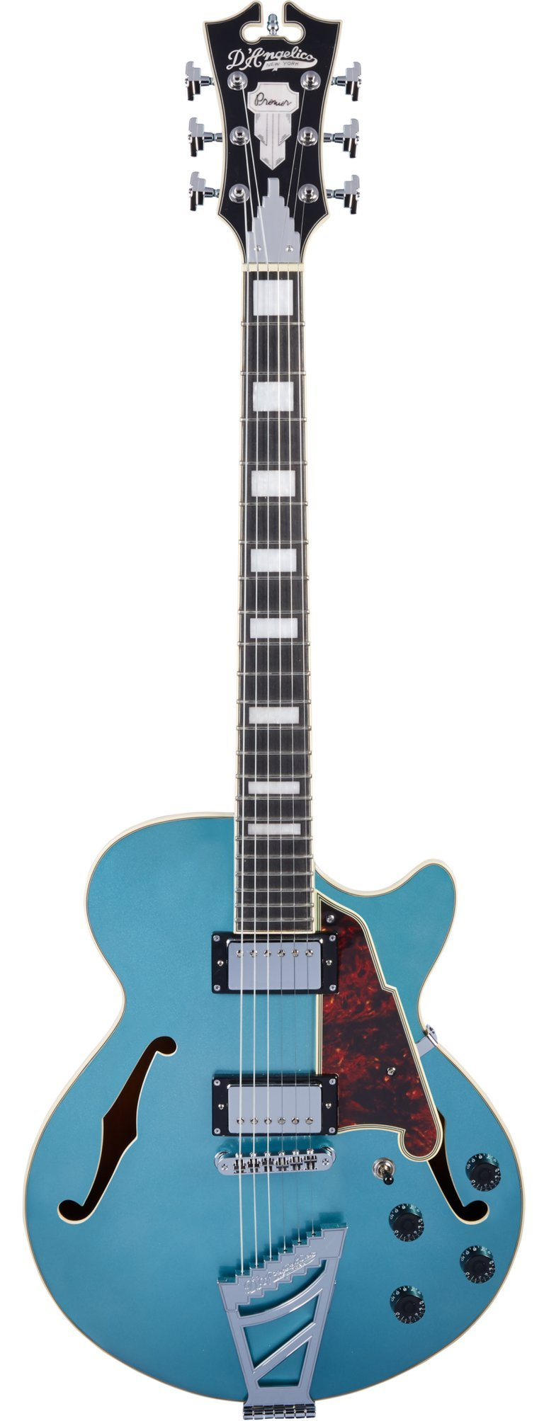 Cheap D Angelico Premier SS Semi-Hollow Electric Guitar w/ Stairstep Tailpiece - Ocean Turquoise Black Friday & Cyber Monday 2019