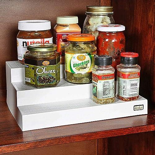 Pebbleyard Plastic Cupboard Space Organizer, Standard, 1-Piece, Multi