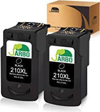 JARBO Remanufactured for Canon PG-210XL 210 XL Ink Cartridges, 2 Black, Used in Canon PIXMA MP495 IP2702 MP230 MP240 MP250 MP280 MP480 MP490 MP499 MX330 MX340 MX350 MX410 MX420 Printer