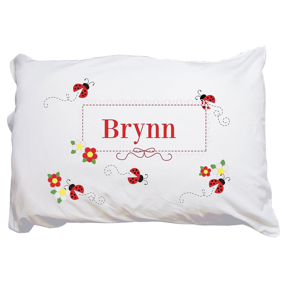 MyBambino Child's Personalized Ladybug Pillowcase Red