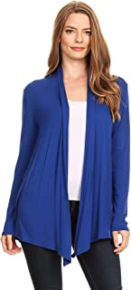 Women's Solid Casual Knit Long Sleeve Loose Fit Sweater Cardigan/Made in USA