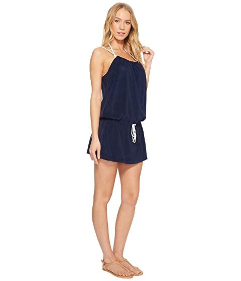Iconic Polo Cover Lauren Ralph Riviera Dress Navy Rope Up Terry xHUHEnpqwr