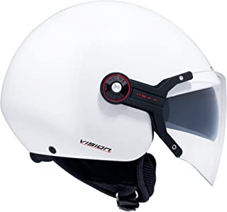 Nexx X60 Vision Flex Open Face Motorcycle Helmet (White, X-Large)