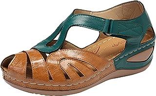 Dames Sandalen Basic Closed Toe Mid Wedge hol gesneden zomer outdoor sandalen