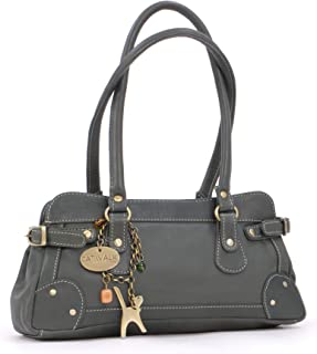Catwalk Collection Handbags - Women's Leather Top Handle/Shoulder Bag - CARNABY STREET