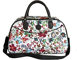 Travel Hand Luggage Storage Women Overnight Camping Duffle Bag - Large-Capacity Holdall Floral Printed Tote Zhhlaixing