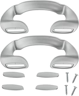 Spares2go Door Handle For Diplomat Fridge Freezer (190Mm, Silver, Pack Of 2)