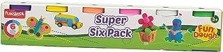 FUNSKOOL-Fundough Super Six Pack, Multi Colour