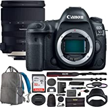 Canon EOS 5D Mark IV Digital SLR Camera Body with Tamron SP 24-70mm f/2.8 Di VC USD G2 Lens AFA032C-700 with 82mm Deluxe Filter Kit and Deco Gear Photography Backpack Pro Bundle