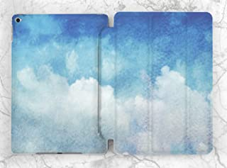 White Blue Watercolor Sky Case For Apple iPad Mini 1 2 3 4 5 iPad Air 2 3 iPad Pro 9.7 10.5 11 12.9 inch iPad 9.7 inch 2017 2018 2019
