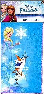 "6-Pack Disney Frozen Microfiber 12x12"" Dishcloths/Washcloths, Elsa, Olaf"