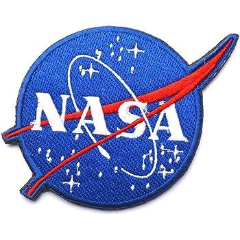 Agencia espacial de la NASA Hierro en Coser Parche Bordado-Rojo