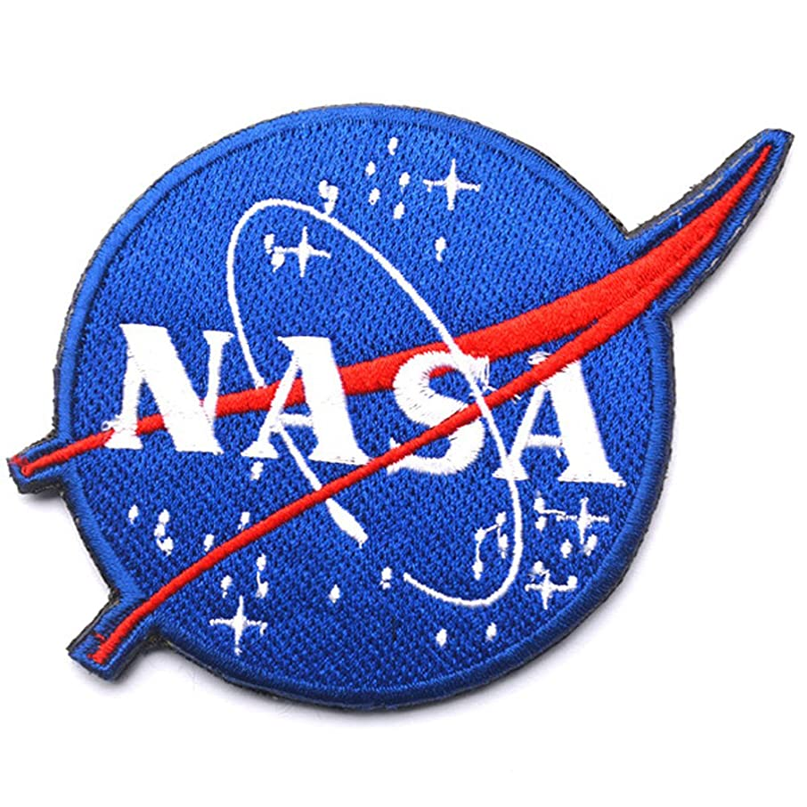 Nasa Space Sew on Patch Morale Tactical Military Army Embroidered Patches with Hook and Loop Fasteners