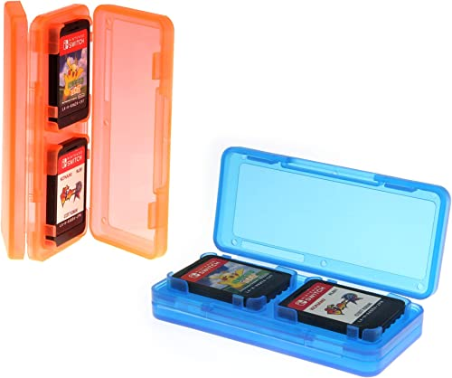 iMW Switch 4Pcs Game Card Case 2 Packs - Red/Blue - All Nintendo Consoles