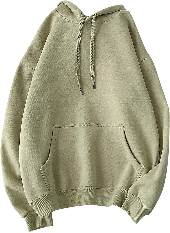 Men's Sweatshirts Hoodies Long Sleeve Warm Casual Solid Color Comfy Patchwork Sweatshirt Hooded Tops Outwear
