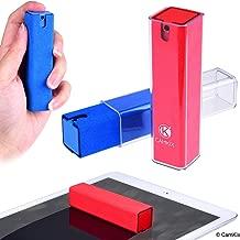 Bouteille et chiffon de nettoyage pour écran 2 en 1 - Paquet de 2 - Nettoyez instantanément l'écran de votre téléphone, tablette, téléviseur, ordinateur portable - Vaporiser et essuyer - Compact
