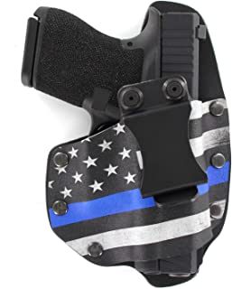 Infused Kydex USA: Thin Blue Line IWB NT Hybrid Kydex & Leather Holster - Inside The Waistband