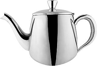 Cafe Ole PT-013 pierwszorzędny dzbanek do herbaty premium, stal nierdzewna 18/10, 13 unces, wylewanie bez kapania, wydrążo...