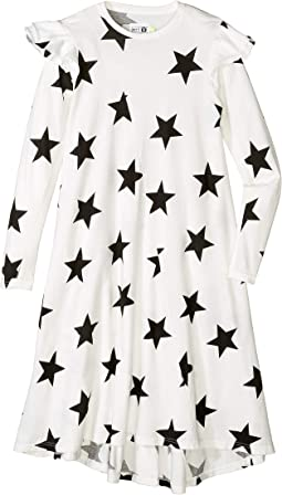 Ruffled Sleeve 360 Star Dress (Little Kids/Big Kids)