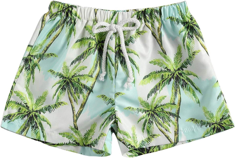 Madjtlqy Toddler Baby Boys Shorts Camouflage Palm Tree Printing