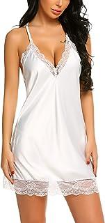 Avidlove Women Lingerie Satin Lace Chemise Nightgown Sexy Full Slips Sleepwear