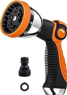 Garden Hose Nozzle Spray Nozzle,10 Hose Metal Duty Watering Patterns Thumb Control On Off Valve, High Pressure Nozzle Spra...
