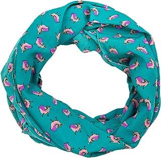 mi-saison foulard femmes 01018048 styleBREAKER /Écharpe tube snood avec motif arbres et oiseaux