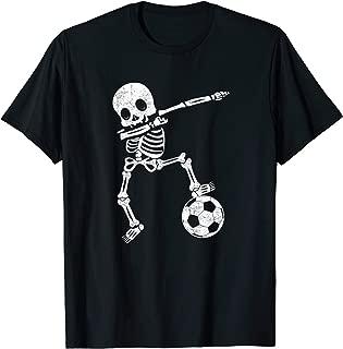 Halloween Dabbing Skeleton Soccer Player Dab Boys Kids T-Shirt