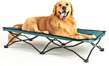 maxpama Portable Camping Elevated Pet Bed, Durable and Breathable Travel Sleeping Cot with 47 Inches Long, Indoor or Outdo...