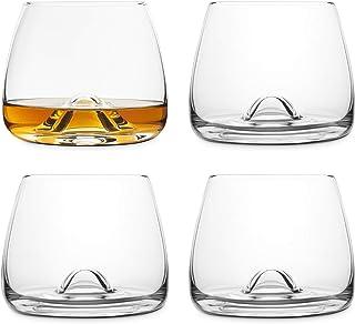 Final Touch 4 Whiskey Gläser Whiskeygläser Kristallglas Hergestellt mit DuraSHIELD Titanium verstärkt für erhöhte Haltbarkeit Hoch 9 cm 300ml - Packung mit 4 Stück