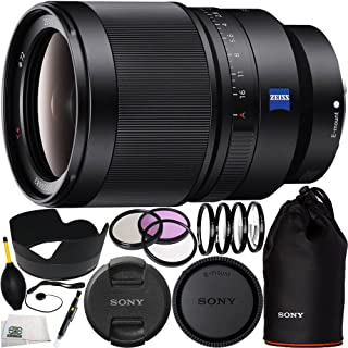 Sony SEL35F14Z Distagon T FE 35mm f/1.4 ZA Standard-Prime Lens Bundle 15PC Accessory Kit. Includes Manufacturer Accessories + 3PC Filter Kit (UV-CPL-FLD) + 4PC Macro Filter Set (+1, +2, +4, +10) + Lens Pen + Cap Keeper + Dust Blower + Microfiber Cleaning Cloth
