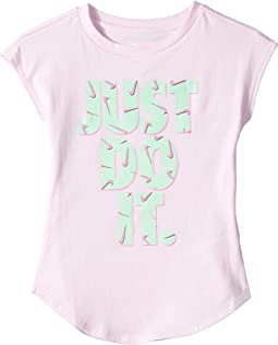 Swooshfetti Just Do It Modern Short Sleeve Tee (Toddler/Little Kids)