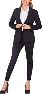 Women's Business Blazer Pant Suit Set for Work