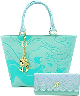 Disney The Little Mermaid Ariel Tote Bag and Wallet Set