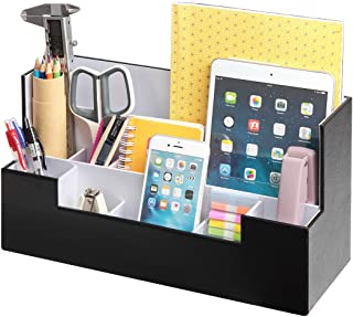 Desk Supplies Office Organizer Caddy (Black, 13.4 x 5.1 x 7.1 inches) JackCubeDesign-:MK268A