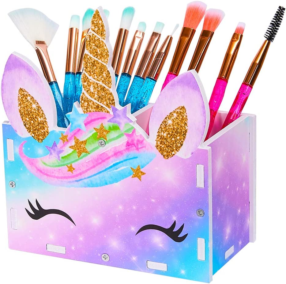 MHJY Unicorn Pencil Holder Organizer Makeup 2 Recommendation Brush Finally popular brand Slot