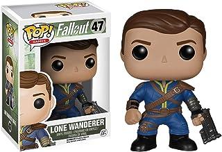 Funko Lone Wanderer [Male]: Fallout x POP! Figura de vinilo de juegos y 1 POP! Paquete de protectores gráficos de plástico PET compatibles [#047 / 05848 - B]