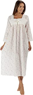 100% Cotton Nightgown 3/4 Sleeves + Pockets - Laura