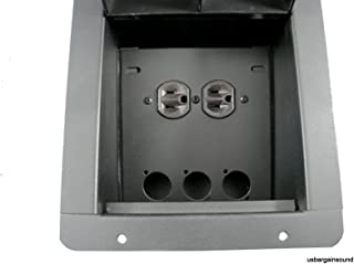 ProCraft Pro Audio Recessed Floor Pocket Box. Loaded AC Duplex and PrePunched for 3