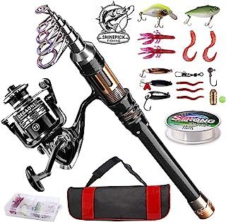 ShinePick Fishing Rod Kit, Telescopic Fishing Pole and...