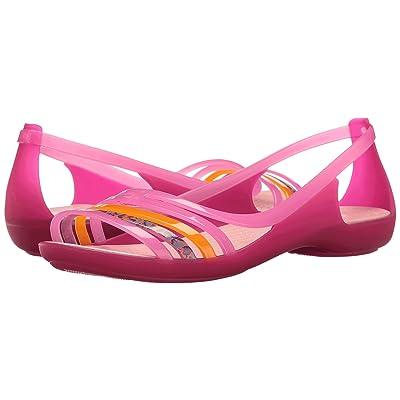 Crocs Isabella Huarache Flat (Petal Pink/Coral) Women