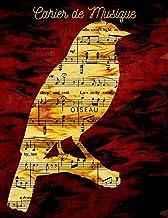 Cahier de Musique Oiseau: Papier manuscrit musical: Bloc de manuscrites 10 portées / personnel | Livre de musique de 110 p...