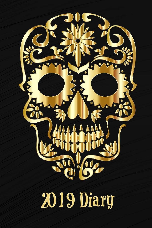 日常的にサスティーン誕生日2019 Diary: Gold Sugar Skull 2 Pages Per Week Planner (6