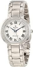 Bulova Precisionist Womens 96R167 Fairlawn Diamond Accents Bracelet 32mm Watch (Renewed)